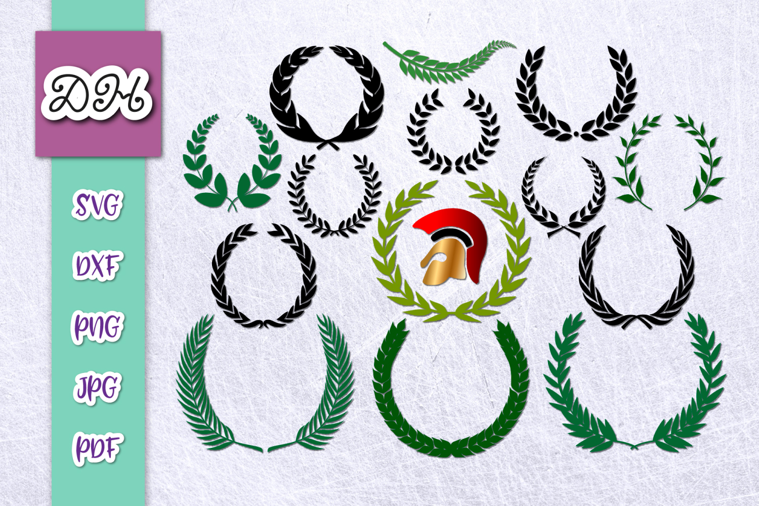 Download Free Laurel Wreath Glory Symbols Bundle Files Graphic By Digitals By for Cricut Explore, Silhouette and other cutting machines.
