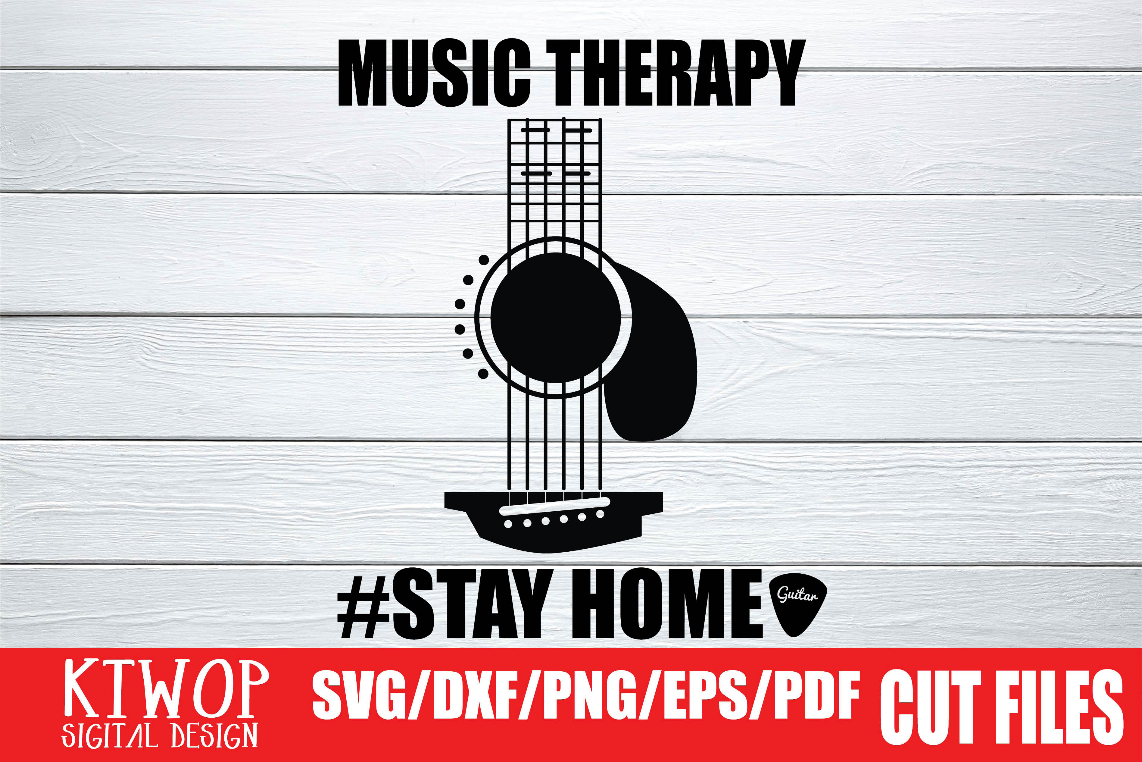 Download Free Music Therapy Stay Home 2020 Graphic By Ktwop Creative Fabrica for Cricut Explore, Silhouette and other cutting machines.