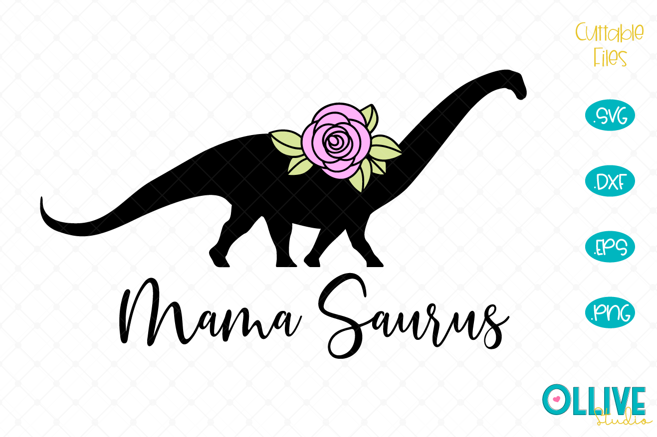 Download Free Mama Saurus Dinosaur Svg Graphic By Ollivestudio Creative Fabrica for Cricut Explore, Silhouette and other cutting machines.