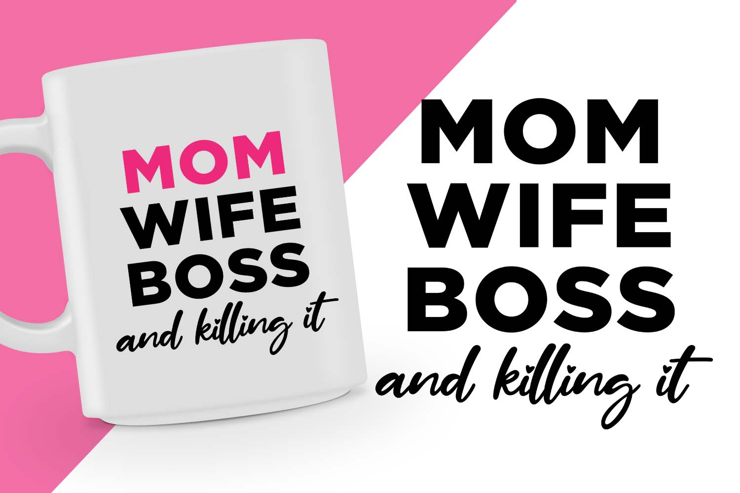 Download Free Mom Wife Boss Svg Design Graphic By Spoonyprint Creative Fabrica for Cricut Explore, Silhouette and other cutting machines.