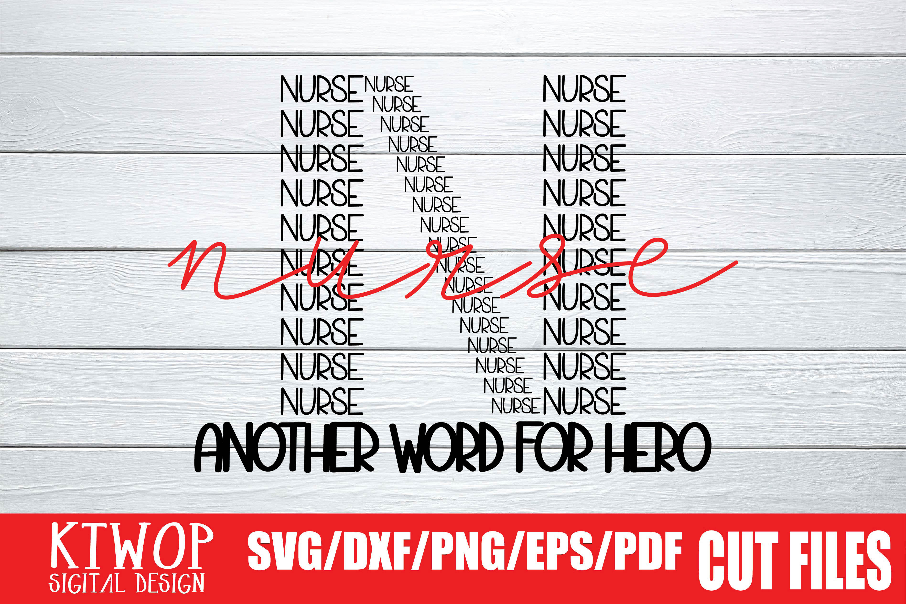Download Free Nurse Another Word For Hero 2020 Graphic By Ktwop Creative Fabrica for Cricut Explore, Silhouette and other cutting machines.