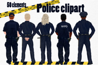 Print on Demand: Police Clipart  Graphic Illustrations By LeCoqDesign