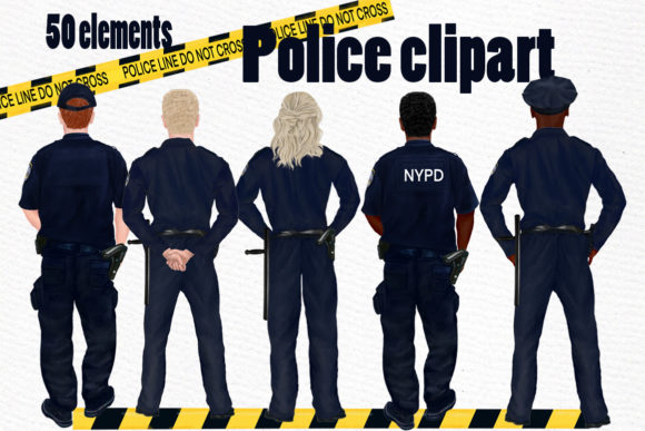 Police Clipart  Graphic Illustrations By LeCoqDesign