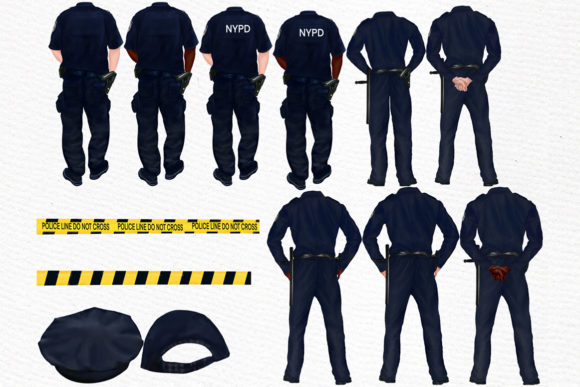 Police Clipart  Graphic Illustrations By LeCoqDesign - Image 2