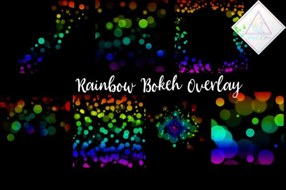 Print on Demand: Rainbow Bokeh Clipart Overlay Graphic Illustrations By fantasycliparts