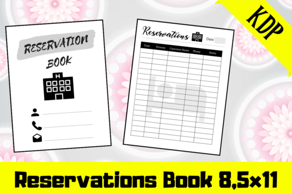 Print on Demand: Reservations Book | KDP Interior Graphic KDP Interiors By Hungry Puppy Studio
