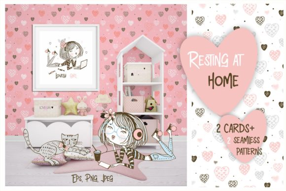 Download Free Resting At Home Graphic By Grigaola Creative Fabrica for Cricut Explore, Silhouette and other cutting machines.