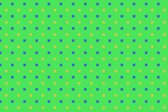 Square Pattern Green Yellow Blue Cute Graphic By Graphics Farm