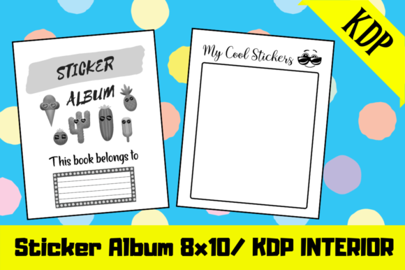 Download Free Sticker Album Kdp Interior Graphic By Hungry Puppy Studio for Cricut Explore, Silhouette and other cutting machines.