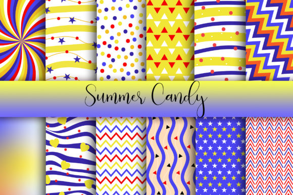 Download Free Summer Candy Background Digital Papers Graphic By Pinkpearly Creative Fabrica for Cricut Explore, Silhouette and other cutting machines.