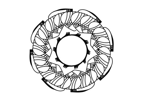 Print on Demand: Mandala Coloring Page Graphic Coloring Pages & Books By lunarctic - Image 1