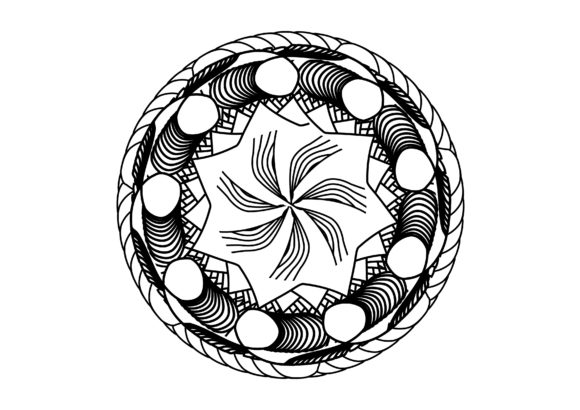 Print on Demand: Mandala Coloring Page Graphic Coloring Pages & Books By lunarctic