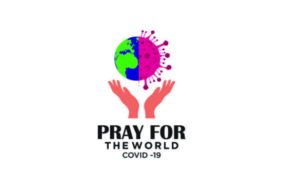 Download Free Pray For The World Corona Virus Graphic By Blueberry 99d Creative Fabrica for Cricut Explore, Silhouette and other cutting machines.