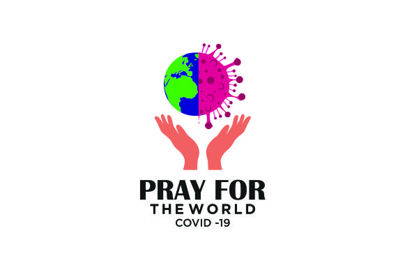 Download Free Pray For The World Corona Virus Graphic By Blueberry 99d for Cricut Explore, Silhouette and other cutting machines.