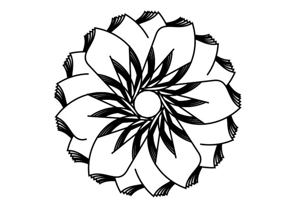 Print on Demand: Unique Mandala Coloring Page Graphic Coloring Pages & Books By lunarctic
