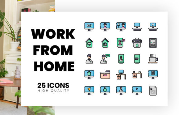 Download Free Work From Home Graphic By Hai Hai Creative Fabrica for Cricut Explore, Silhouette and other cutting machines.