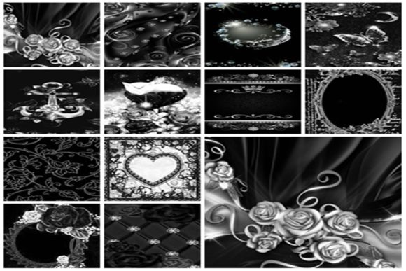 12 Black and White Digital Papers 1 Graphic Textures By Crear y pegar
