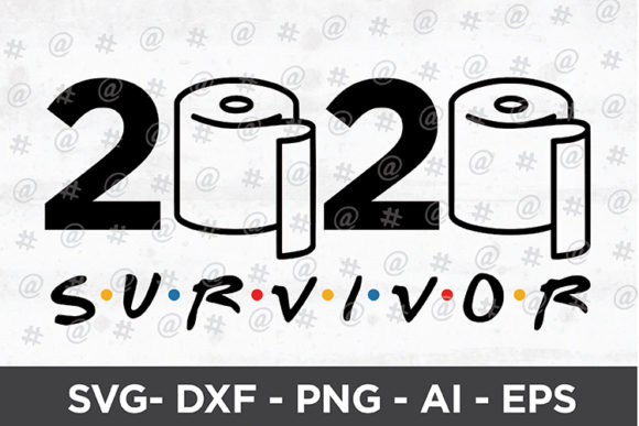 Download Free 2020 Survivor Design Graphic By Spoonyprint Creative Fabrica for Cricut Explore, Silhouette and other cutting machines.