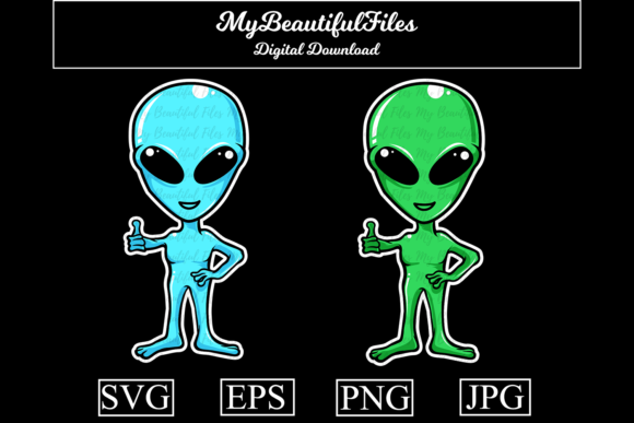 Print on Demand: Alien Graphic Illustrations By MyBeautifulFiles