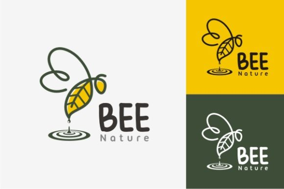 Bee Nature Logo Graphic Logos By TS d'sign