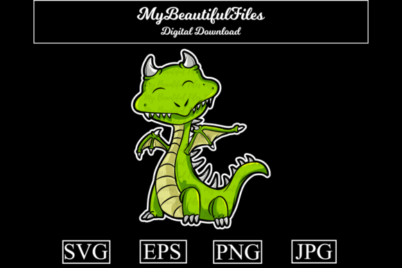 Print on Demand: Dragon Graphic Illustrations By MyBeautifulFiles