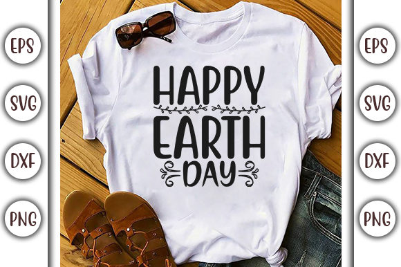 Download Free Earth Day Svg Design Happy Earth Day Graphic By Graphicsbooth for Cricut Explore, Silhouette and other cutting machines.