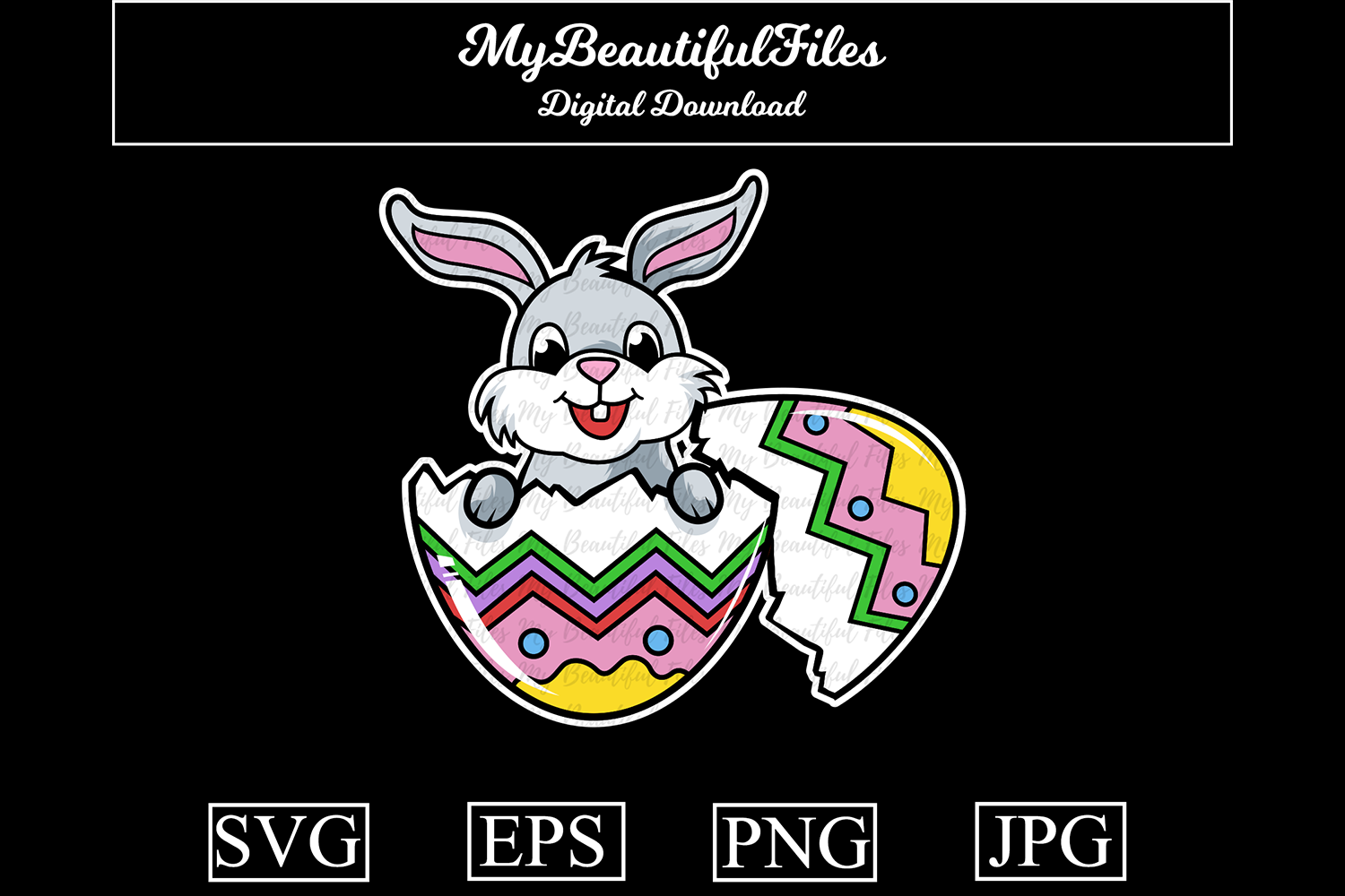 Download Free Easter Graphic By Mybeautifulfiles Creative Fabrica for Cricut Explore, Silhouette and other cutting machines.