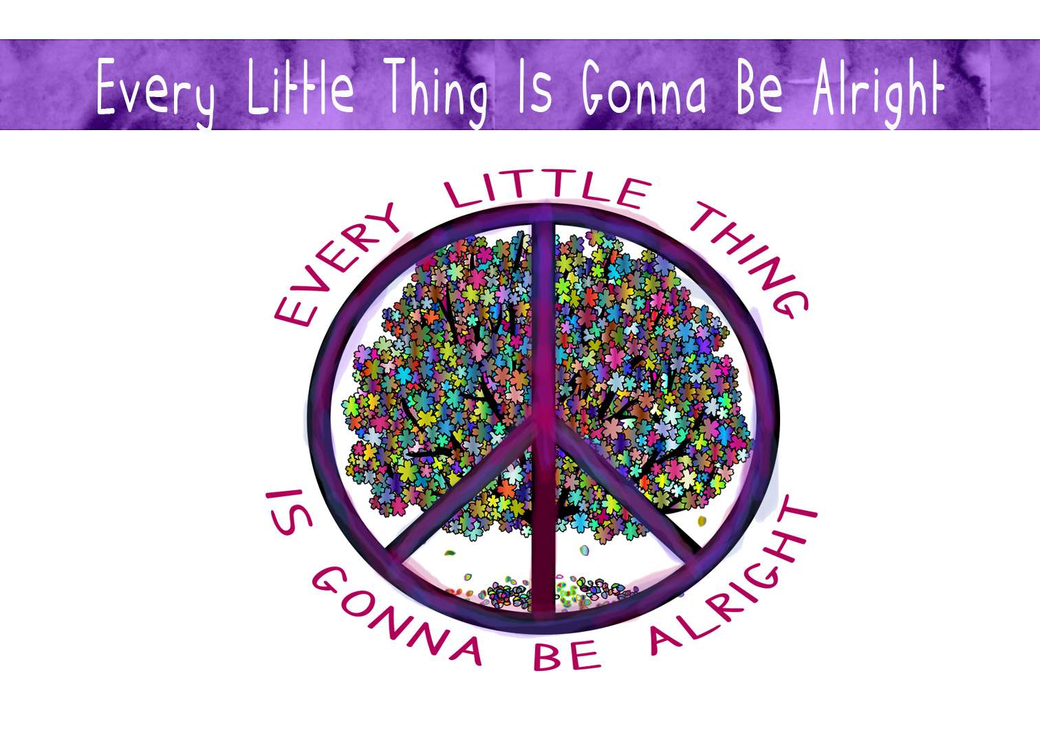 Download Free Every Little Thing Is Gonna Be Alright Graphic By Capeairforce for Cricut Explore, Silhouette and other cutting machines.