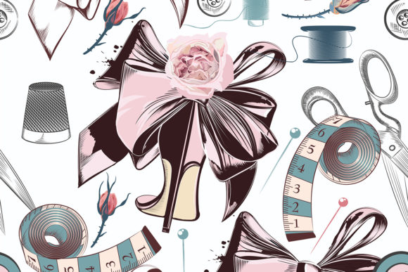 Fashion Vector Pattern with Sewed Things Graphic Patterns By fleurartmariia - Image 2