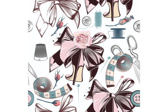 Fashion Vector Pattern with Sewed Things Graphic Patterns By fleurartmariia - Image 3