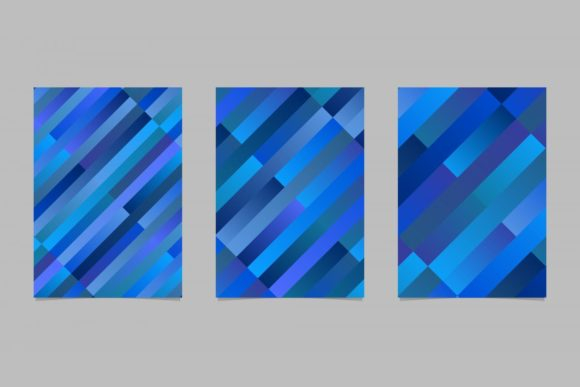 Gradient Rectangle Page Backgrounds Graphic Print Templates By davidzydd
