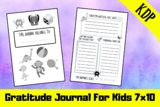 Download Free Gratitude Journal For Kids Kdp Interior Graphic By Hungry Puppy for Cricut Explore, Silhouette and other cutting machines.