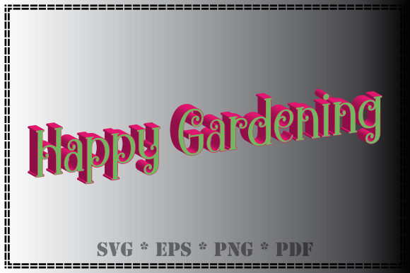 Print on Demand: Happy Gardening in 3D Graphic Illustrations By GraphicsFarm