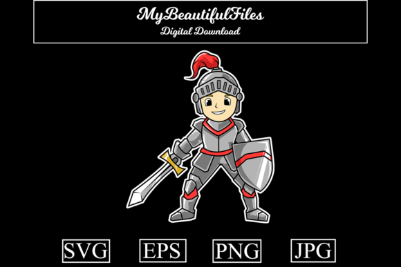 Print on Demand: Knight Graphic Illustrations By MyBeautifulFiles