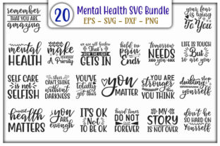 Print on Demand: Mental Health Design Bundle Graphic Print Templates By GraphicsBooth
