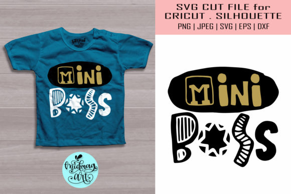 Download Free Mini Boss Baby Shirt Graphic By Midmagart Creative Fabrica for Cricut Explore, Silhouette and other cutting machines.
