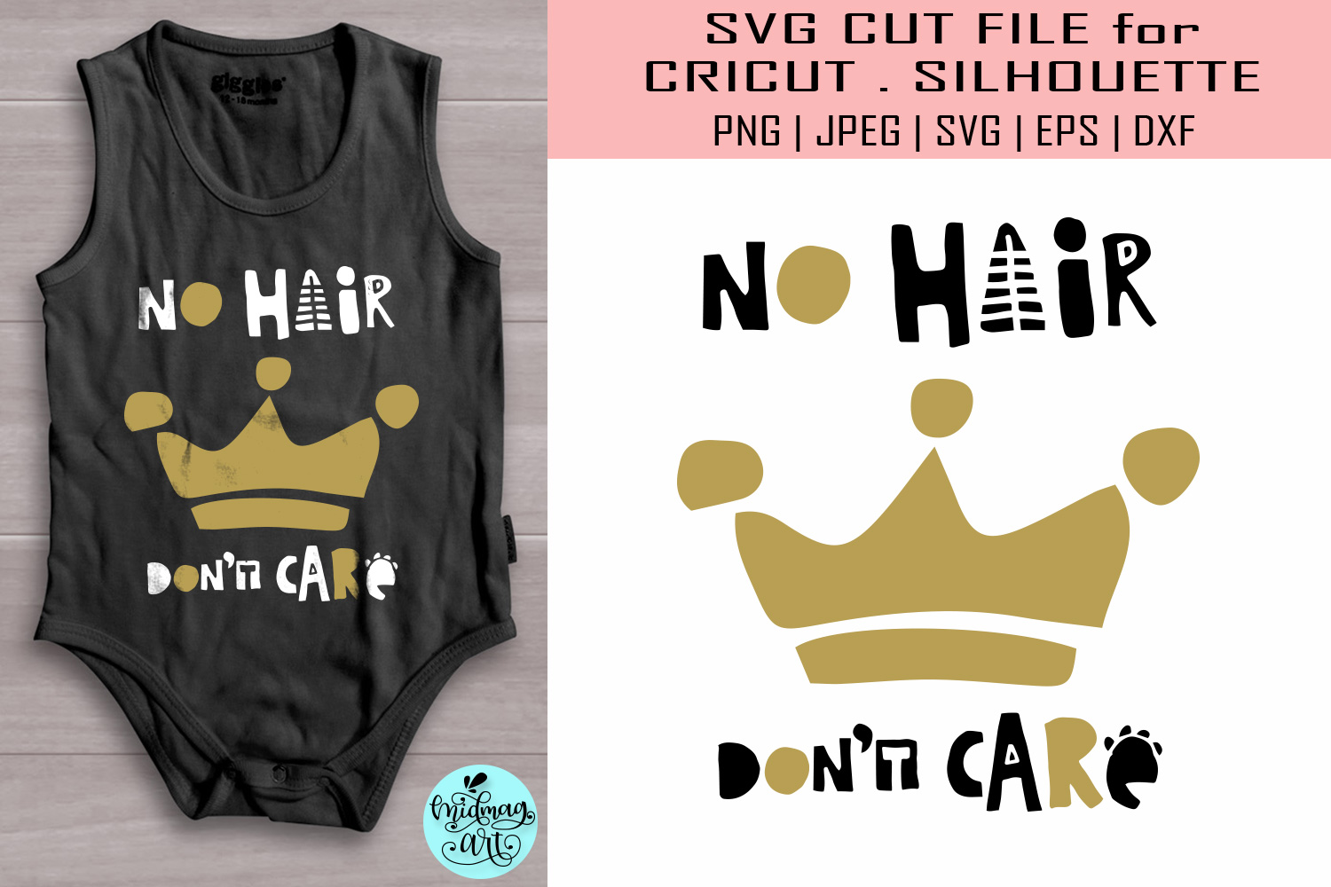 Download Free No Hair Don T Care Svg Baby Svg Graphic By Midmagart Creative for Cricut Explore, Silhouette and other cutting machines.