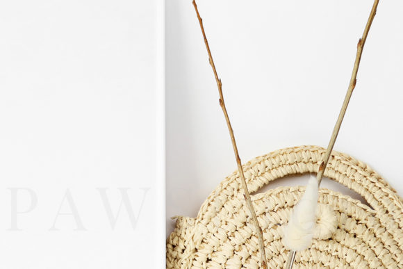 Download Free Photo Frame Mockup With Straw Bag Graphic By Pawmockup Creative Fabrica for Cricut Explore, Silhouette and other cutting machines.