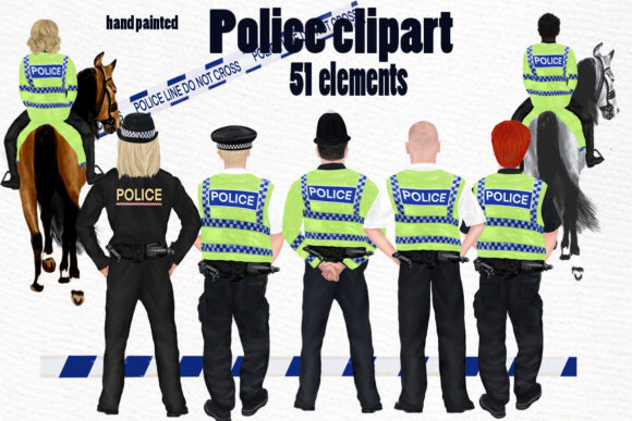 UK Police Clipart  Graphic Illustrations By LeCoqDesign