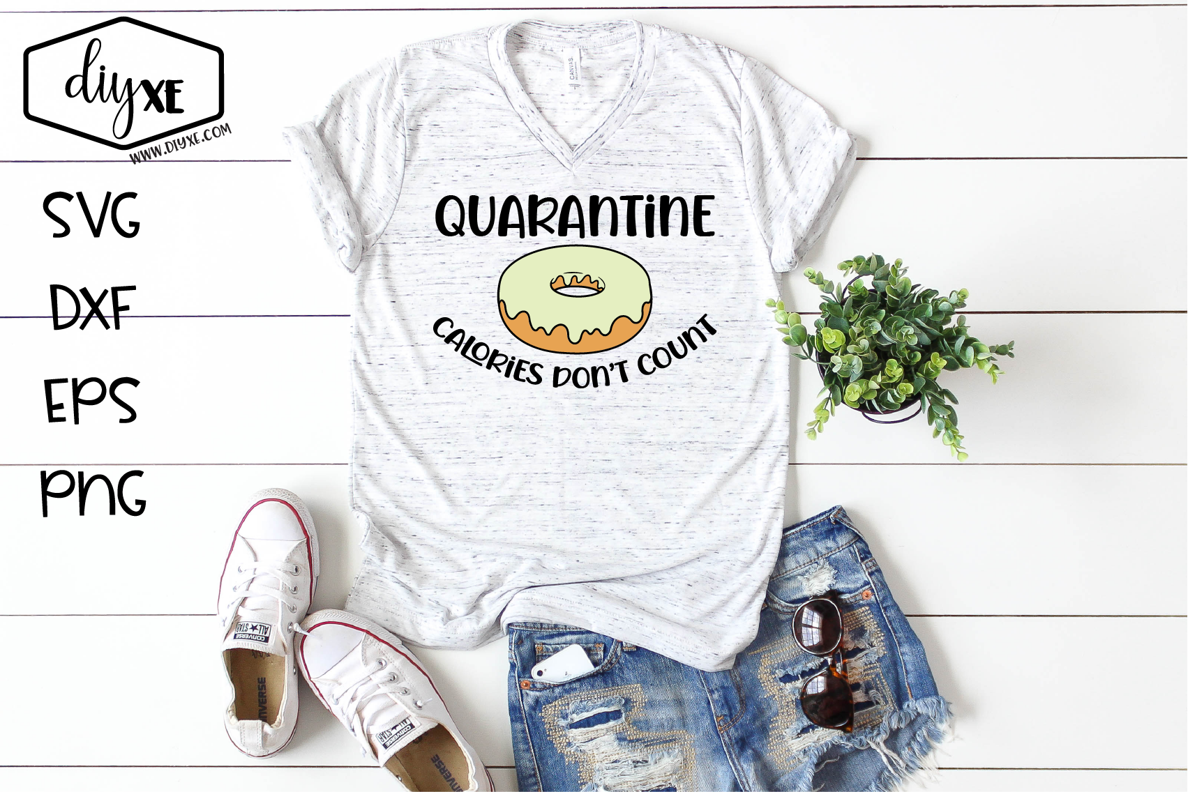 Download Free Quarantine Calories Don T Count Graphic By Sheryl Holst for Cricut Explore, Silhouette and other cutting machines.