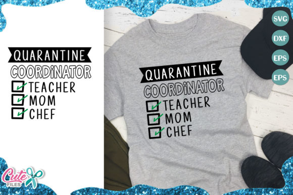 Quarantine Coordinator for Craftters Graphic Illustrations By Cute files