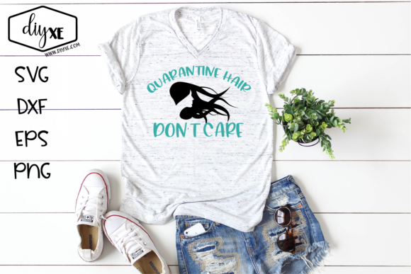 Download Free Quarantine Hair Don T Care Graphic By Sheryl Holst Creative for Cricut Explore, Silhouette and other cutting machines.