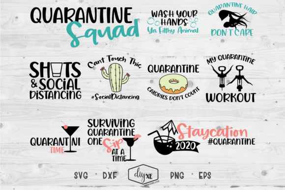 Quarantine Squad Bundle Graphic Crafts By Sheryl Holst