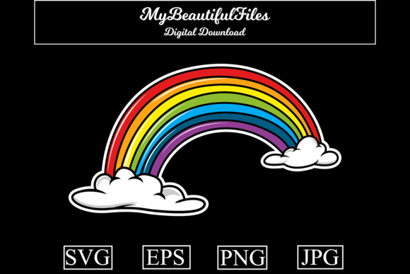 Download Free Rainbow Graphic By Mybeautifulfiles Creative Fabrica for Cricut Explore, Silhouette and other cutting machines.