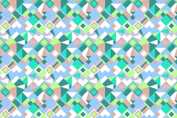 Repeating Mosaic Tile Pattern Graphic By Davidzydd Creative