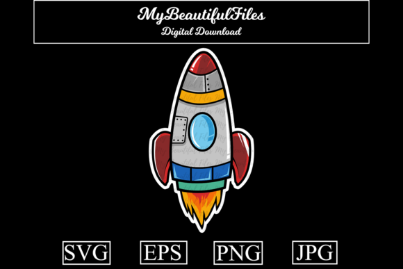 Download Free 1 Rocket Vector Designs Graphics for Cricut Explore, Silhouette and other cutting machines.