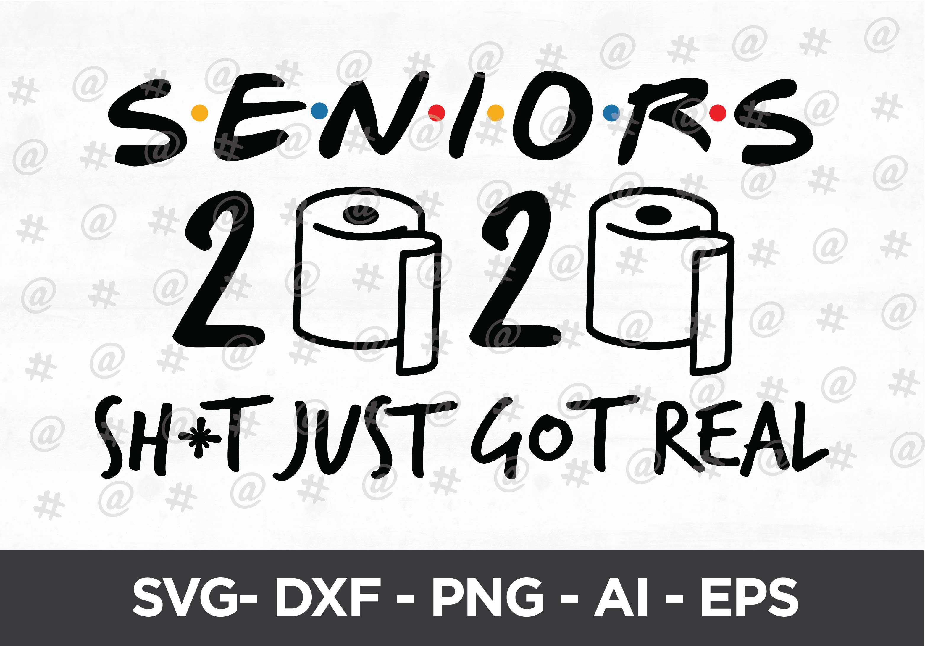Download Free Seniors 2020 Quarantined Svg Design Grafico Por Spoonyprint for Cricut Explore, Silhouette and other cutting machines.