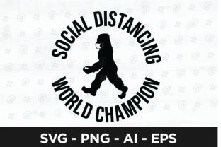 Social Distancing World Champion Graphic Crafts By spoonyprint