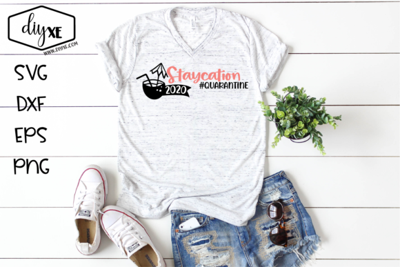Download Free Staycation 2020 Graphic By Sheryl Holst Creative Fabrica for Cricut Explore, Silhouette and other cutting machines.