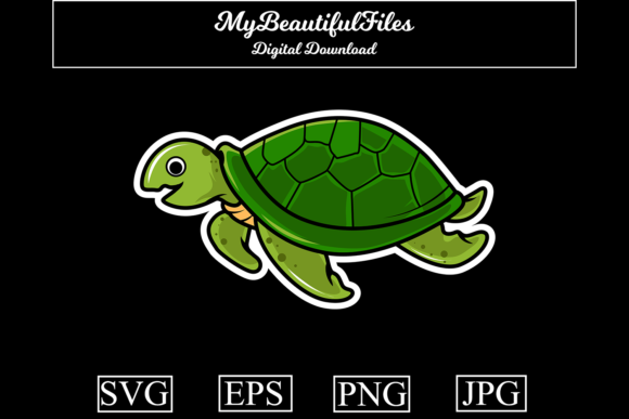 Print on Demand: Turtle Graphic Illustrations By MyBeautifulFiles